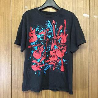 615 古着 プリント Tシャツ XLサイズ ブラック(Tシャツ/カットソー(半袖/袖なし))