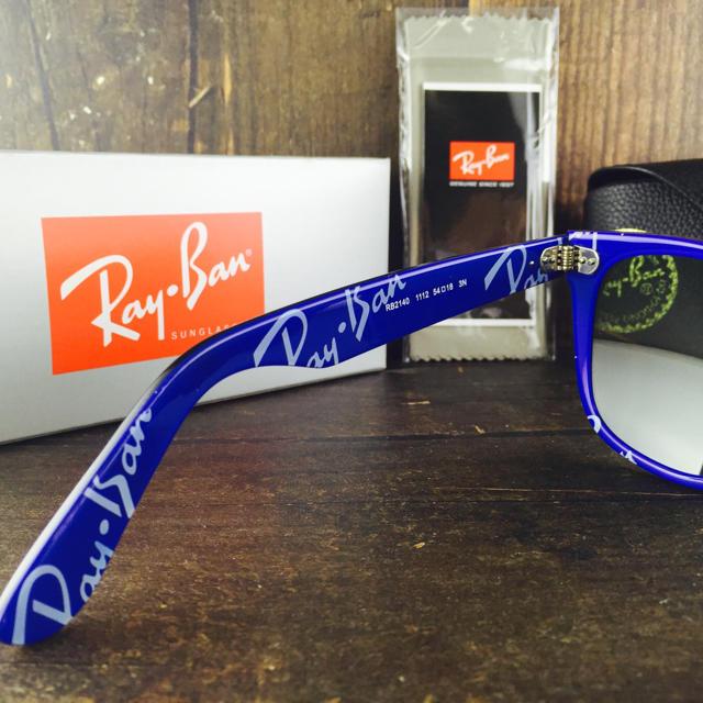 Ray-Ban(レイバン)のレイバンRayBanRB2140 1WAYFARERテキスト54㎜〈ブルー〉 メンズのファッション小物(サングラス/メガネ)の商品写真
