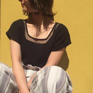 カスタネ(Kastane)のドットチュールサーマルT(シャツ/ブラウス(半袖/袖なし))