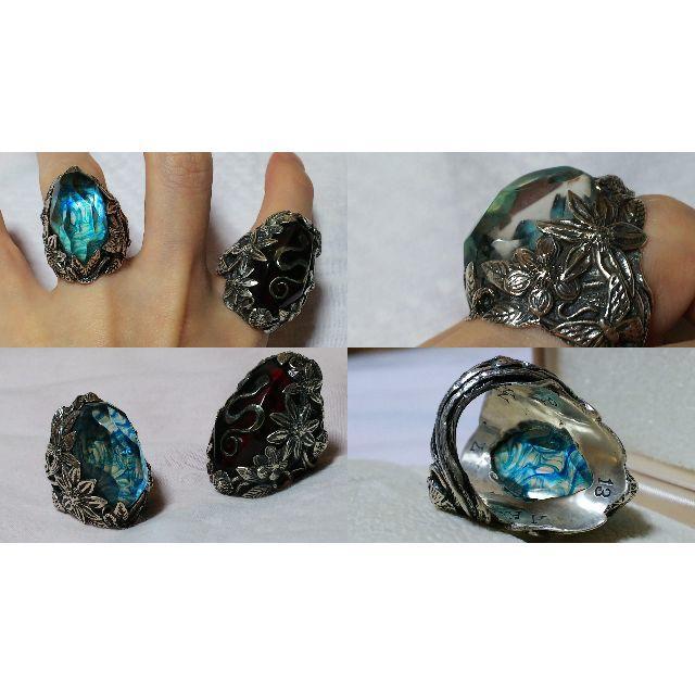 正規 hyde リリーエルランドソン リリー アイスブルーウインターリング 12 メンズのアクセサリー(リング(指輪))の商品写真