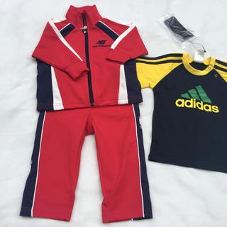 アディダス(adidas)の新品タグ付き アディダス Tシャツ&ニューバランス上下ジャージ(ジャケット/コート)