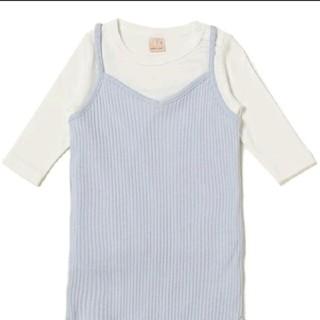 プティマイン(petit main)の★新品★プティマイン  リブキャミワンピース&Tシャツセット  100(ワンピース)