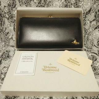 ヴィヴィアンウエストウッド(Vivienne Westwood)のクロワッサン様専用★         8月限定★がま口黒長財布★ヴィヴィアン(財布)