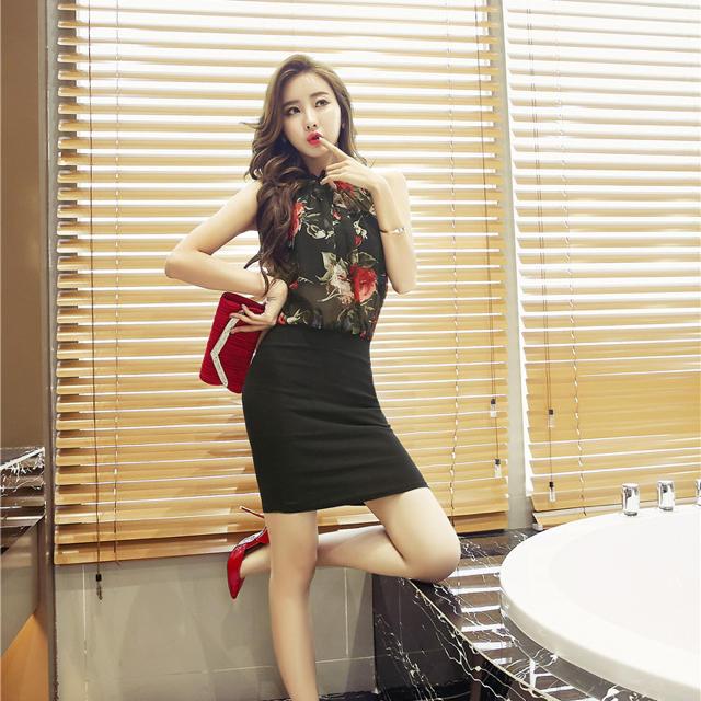 ブラック花柄キャバドレス 即納 送料無料 レディースのフォーマル/ドレス(ナイトドレス)の商品写真