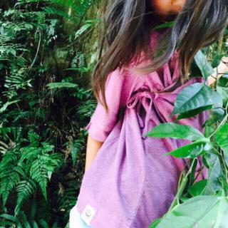 ヘンプコットン キッズ お出かけ ワンピース✨【紫専用】3歳〜7歳 難あり価格(ワンピース)