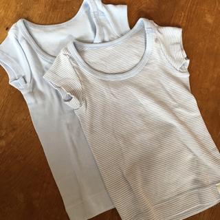 ムジルシリョウヒン(MUJI (無印良品))の【新品未使用】無印良品80㎝半袖肌着2枚セット(肌着/下着)