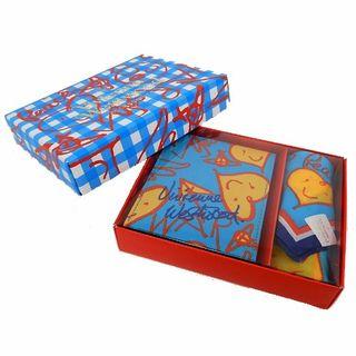 ヴィヴィアンウエストウッド(Vivienne Westwood)の【新品・未使用】スタンドミラー(鏡)×ハンカチ セット 水色 34802702B(ミラー)