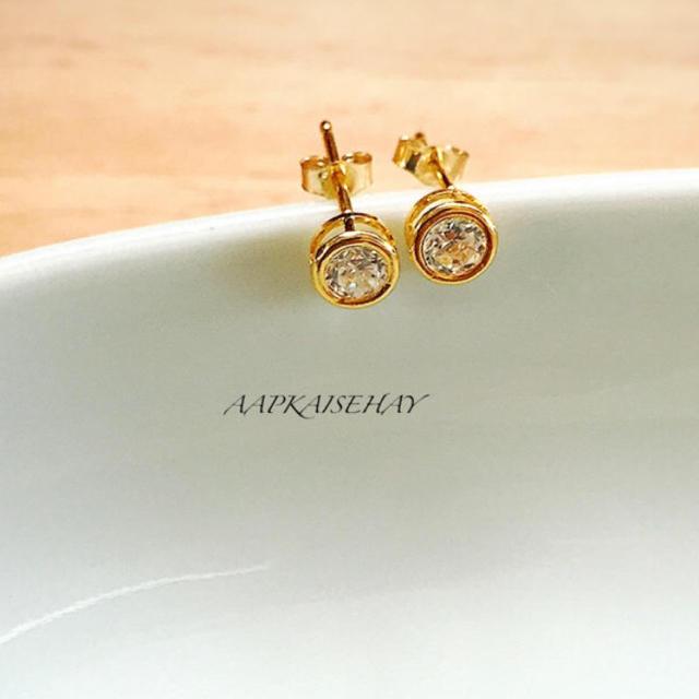 ハイグレードCZダイヤ一粒スタッドピアス レディースのアクセサリー(ピアス)の商品写真