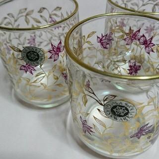 トウヨウササキガラス(東洋佐々木ガラス)の昭和レトロ 金縁グラス5個セット佐々木硝子(グラス/カップ)