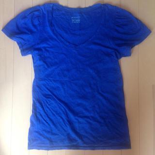 ジーナシス(JEANASIS)のJEANASIS Tシャツ ブルーラメ入り(Tシャツ(半袖/袖なし))