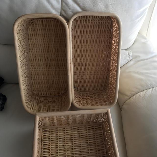 MUJI (無印良品)(ムジルシリョウヒン)の無印良品 バスケット3点 インテリア/住まい/日用品のインテリア小物(バスケット/かご)の商品写真