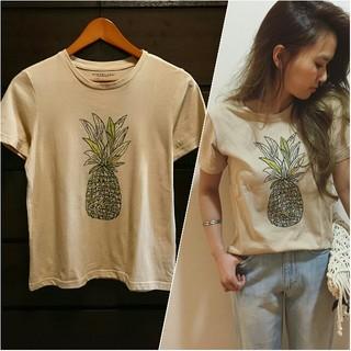 アンレリッシュ(UNRELISH)のパイナップルTシャツ ベージュ(Tシャツ(半袖/袖なし))