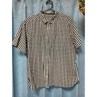ジーユー(GU)の美品 ギンガムチェックシャツ LL(シャツ/ブラウス(半袖/袖なし))