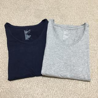 ムジルシリョウヒン(MUJI (無印良品))の1000円SALE!無印 VネックT 2枚SET(Tシャツ(半袖/袖なし))