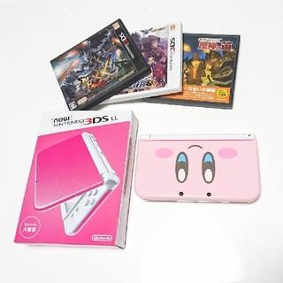 ニンテンドー3DS(ニンテンドー3DS)の■kira様専用 ソフトセット new Nintendo 3DSLL ピンク(携帯用ゲーム機本体)