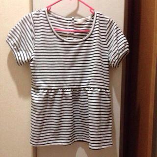 ミスティウーマン(mysty woman)のペプラムトップス mysty woman(Tシャツ(半袖/袖なし))