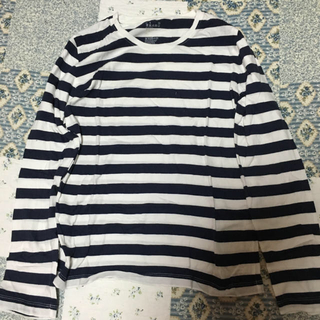 ムジルシリョウヒン(MUJI (無印良品))の無印良品 Tシャツ ボーダー 紺×白(Tシャツ(長袖/七分))
