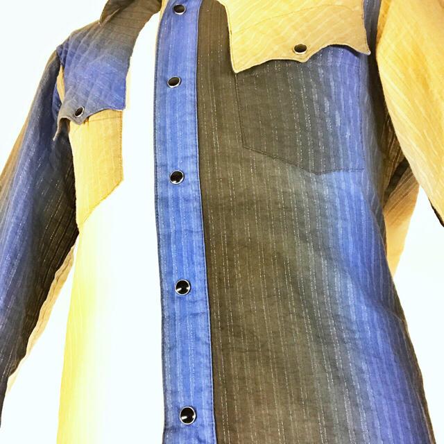 AYUITE(アユイテ)の【USED美品】AYUITEグラデーション長袖コットンシャツ メンズのトップス(シャツ)の商品写真