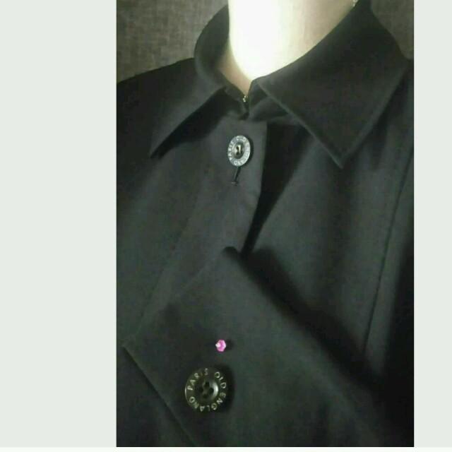 大変美品 OLDENGLAND クリーニング済 シンプル良質な王道ジャケット 黒 レディースのジャケット/アウター(テーラードジャケット)の商品写真