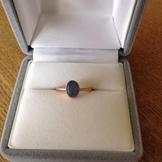 カイヤナイト リング 9号 ピンクゴールド インドジュエリー 新品(リング(指輪))