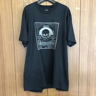 1107 古着 プリント Tシャツ メンズ XLサイズ ブラック(Tシャツ/カットソー(半袖/袖なし))