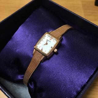 アガット(agete)のagete アガット 腕時計 スクエアフェイスジュエリーウォッチ(腕時計)