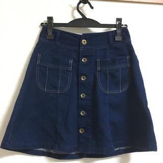 ローリーズファーム(LOWRYS FARM)のデニム台形スカート(ミニスカート)