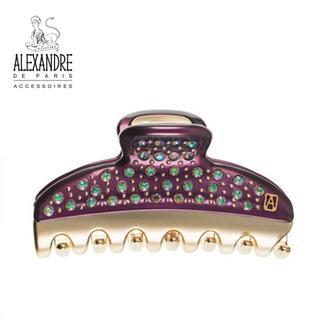 アレクサンドルドゥパリ(Alexandre de Paris)の♪新品♪Alexandre de Paris♪VENDOME全面クリップ*紫*(バレッタ/ヘアクリップ)