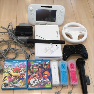 ニンテンドウ(任天堂)のWiiU本体+etc./スプラトゥーン/マリオパーティーセット(家庭用ゲーム本体)