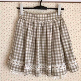 リズリサ(LIZ LISA)のLIZ LISA ギンガムチェックスカート(ひざ丈スカート)