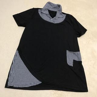 シマムラ(しまむら)の美品!!ギンガムチェックポロシャツ(ポロシャツ)
