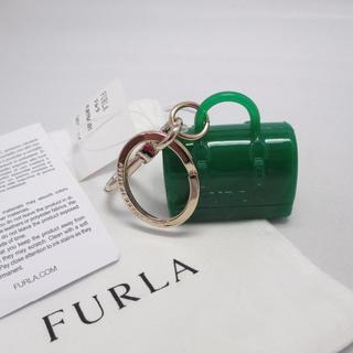 フルラ(Furla)の【正規品・鑑定済】新品 フルラ キーリング 764891 グリーン×ゴールド(キーホルダー)