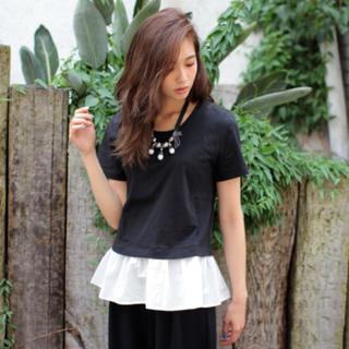 スライ(SLY)のスライslyフリルTシャツブラックカットソーキャミソール(Tシャツ(半袖/袖なし))