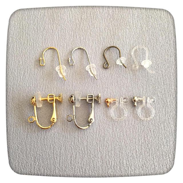 ★お試し★シルキーパールとカットガラスのシンプルピアスA/ゴールド ハンドメイドのアクセサリー(イヤリング)の商品写真