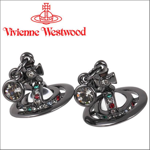 Vivienne Westwood(ヴィヴィアンウエストウッド)の♡ヴィヴィアン プチオーブピアス ガンメタル♡ メンズのアクセサリー(ピアス(両耳用))の商品写真