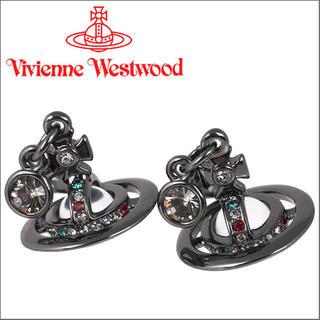 ヴィヴィアンウエストウッド(Vivienne Westwood)の♡ヴィヴィアン プチオーブピアス ガンメタル♡(ピアス(両耳用))