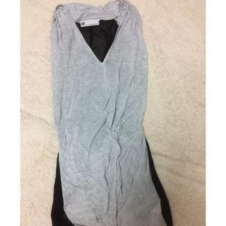 スライ(SLY)のSLY ツイスト ロング トップス チュニック(Tシャツ(半袖/袖なし))