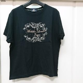 ミチコロンドン(MICHIKO LONDON)の値下げ!MICHIKO LONDON JEANS大きいサイズ ブラックTシャツ(Tシャツ(半袖/袖なし))
