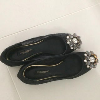 ドルチェアンドガッバーナ(DOLCE&GABBANA)のドルガバ 靴(バレエシューズ)