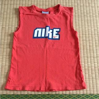ナイキ(NIKE)のナイキ ノースリーブシャツ オレンジ 110サイズ!NIKE(Tシャツ/カットソー)
