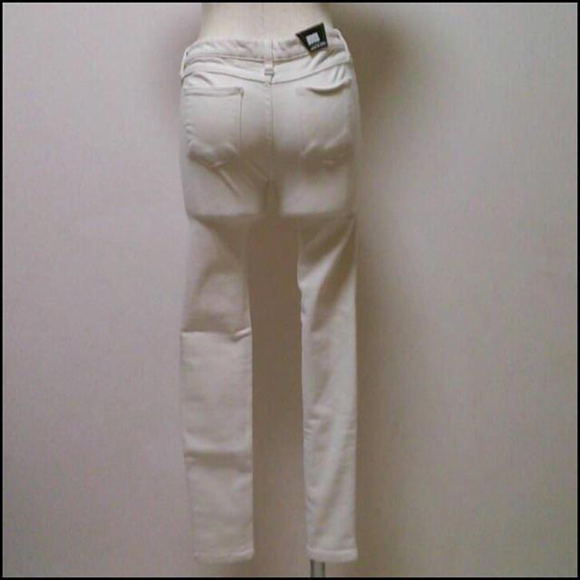 【新品♡送料無料】ラスト1点!ホワイトパンツ フリーサイズ レディースのパンツ(デニム/ジーンズ)の商品写真