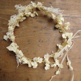 m.soeur お花のツルとかすみ草の花冠