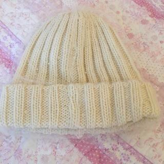 パサージュミニョン(passage mignon)のニット帽 ヴェール付(ニット帽/ビーニー)