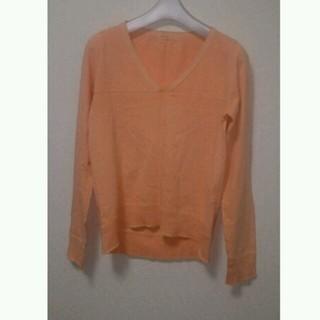 オレンジVネックTシャツ(Tシャツ(長袖/七分))