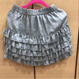 ローリーズファーム(LOWRYS FARM)のローリーズファーム 5段ティアードスカート グレー Fサイズ(ミニスカート)