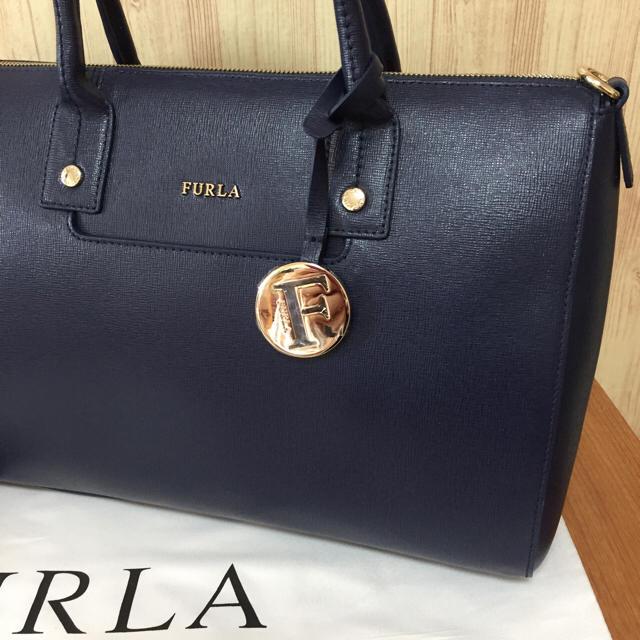 2f92d7db2252 Furla - 秋冬新作‼ 新品 フルラ リンダ ネイビー A4 2way ハンドバッグ ...