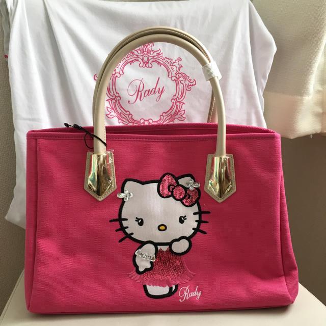 Rady(レディー)のRady  送料込み 新品  キティ  ピンク  M  トートバッグ レディースのバッグ(トートバッグ)の商品写真