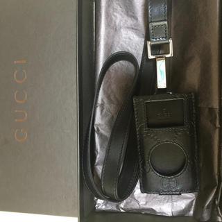 グッチ(Gucci)の大幅値下げ GUCCI ipodnanoケース ストラップ 美品(モバイルケース/カバー)