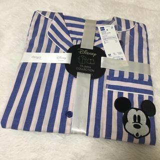 ジーユー(GU)の完売品!GU ディズニーコラボ ミッキーパジャマ ブルー(パジャマ)
