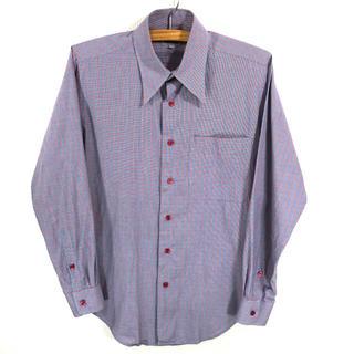 ケンゾー(KENZO)の良柄♪  KENZO チェックシャツ  長袖  薄手 L相当(シャツ)